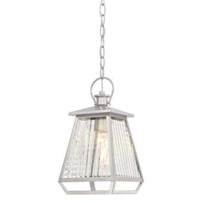 Aurelie Nickel Luster 1-Light Outdoor Hanging Pendant