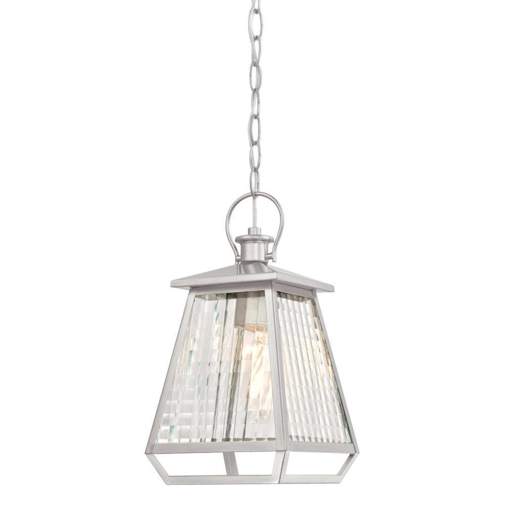 Aurelie Nickel Luster 1-Light Outdoor Hanging Pendant
