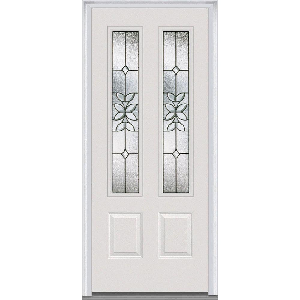 36 in. x 80 in. Cadence Left-Hand Inswing 2-Lite Decorative 2-Panel