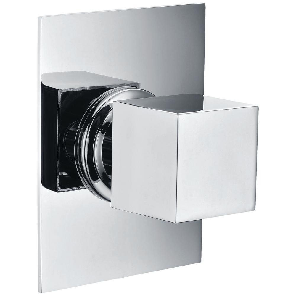 ALFI BRAND Single-Handle Shower Diverter with Sleek Modern Design in Polished Chrome