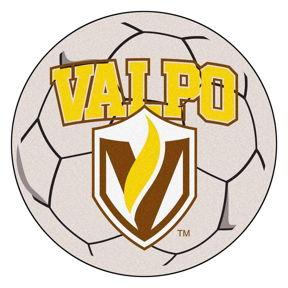 Fanmats Ncaa Valparaiso University Cream 2 Ft 3 In X 2 Ft 3 In Round Accent Rug 605 The