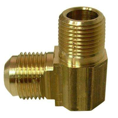 3/8 in. FL x 3/8 in. MIP Lead-Free Brass Flare 90-Degree Elbow