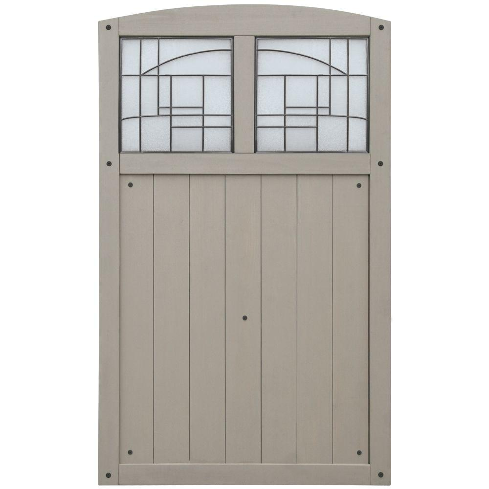 Baycrest 3.5 ft. x 5.6 ft. Wood Fence Gate with Faux