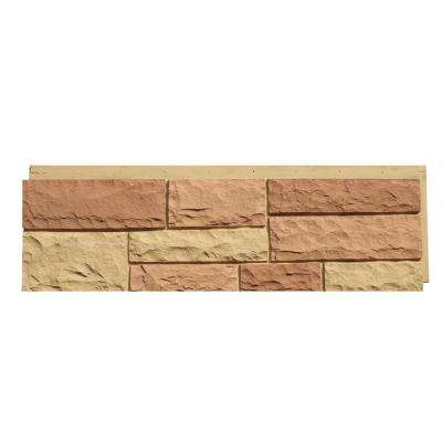 Random Rock 15.5 in. x 48 in. Faux Stone Siding Panel in Tri Sedona Red (4-Pack)