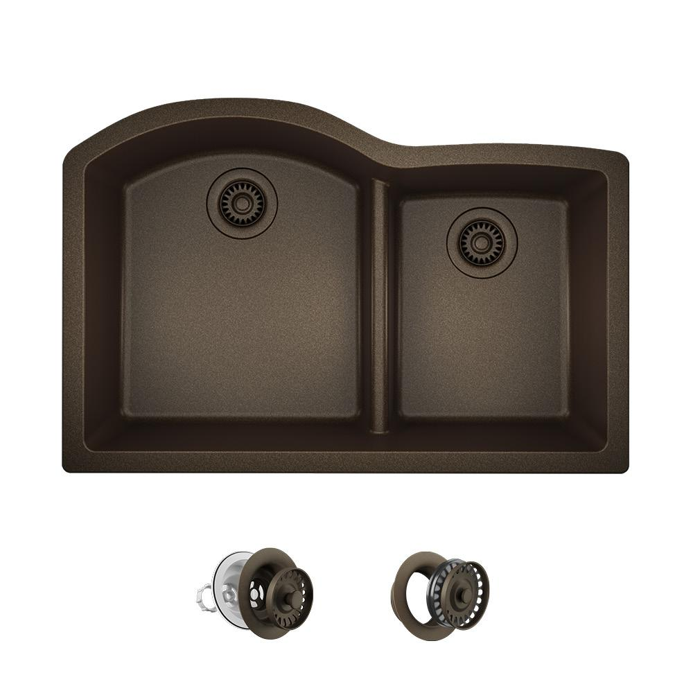 Mr Direct Undermount Granite Composite 33 In 60 40 Double
