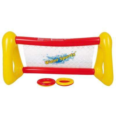 51 in. Red and Yellow Inflatable Water Frisbee Pool Game Set