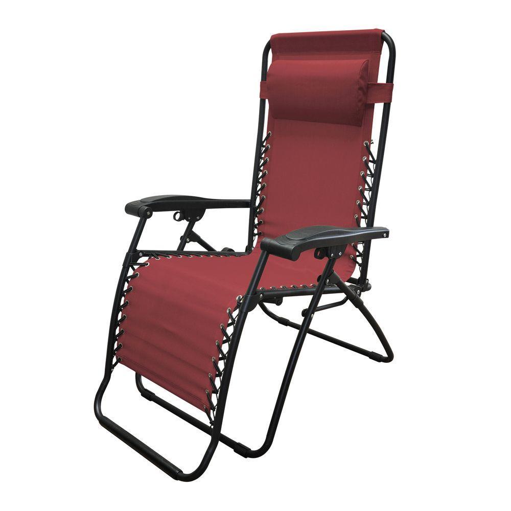 Infinity Burgundy Zero Gravity Patio Chair
