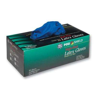 High Risk Powder Free Latex Disposable Gloves, XLarge - 50 Ct. Box, sold by the case