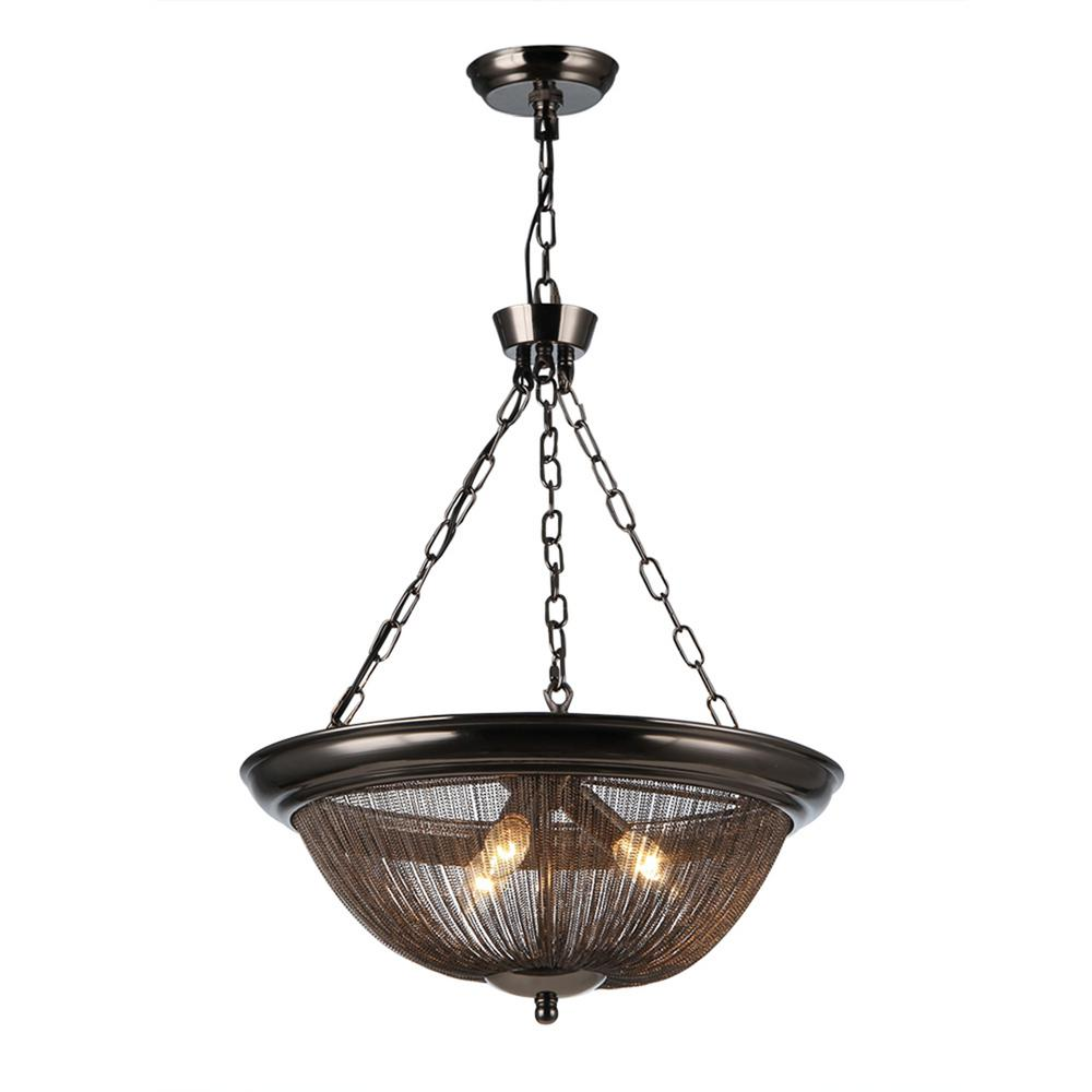 Warehouse Of Tiffany Starge 3-Light Bronze Pendant With