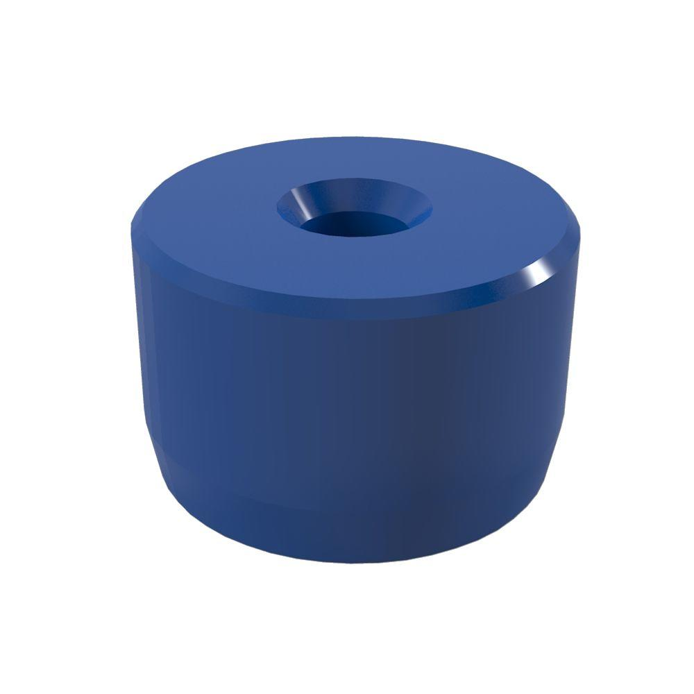 Formufit 1-1/4 in. Furniture Grade PVC Caster Pipe Cap in Blue