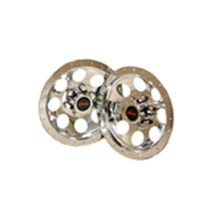 10 in. Chrome Wheel Covers for Lawn Mowers (2-Pack)