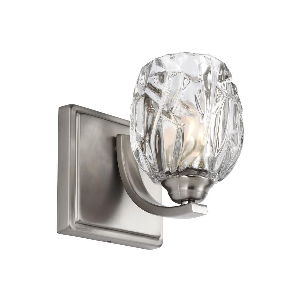 Kalli 1-Light Satin Nickel Wall Bath Light