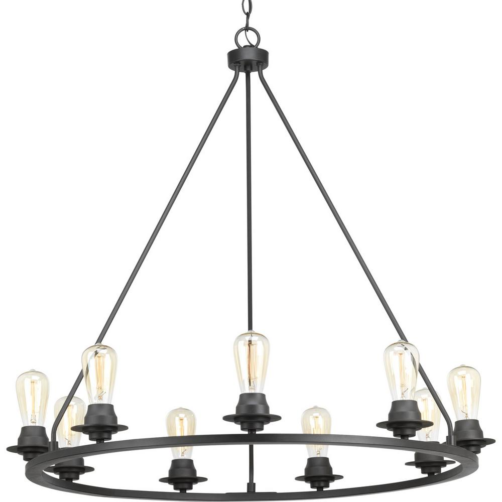 Progress Lighting Debut Collection 9-light Graphite Chandelier
