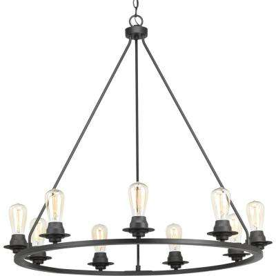 black chandelier lighting contemporary debut collection 9light graphite chandelier black chandeliers lighting the home depot