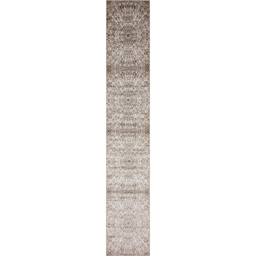 Unique Loom Sofia Brown 3 X 19 8 Runner Rug