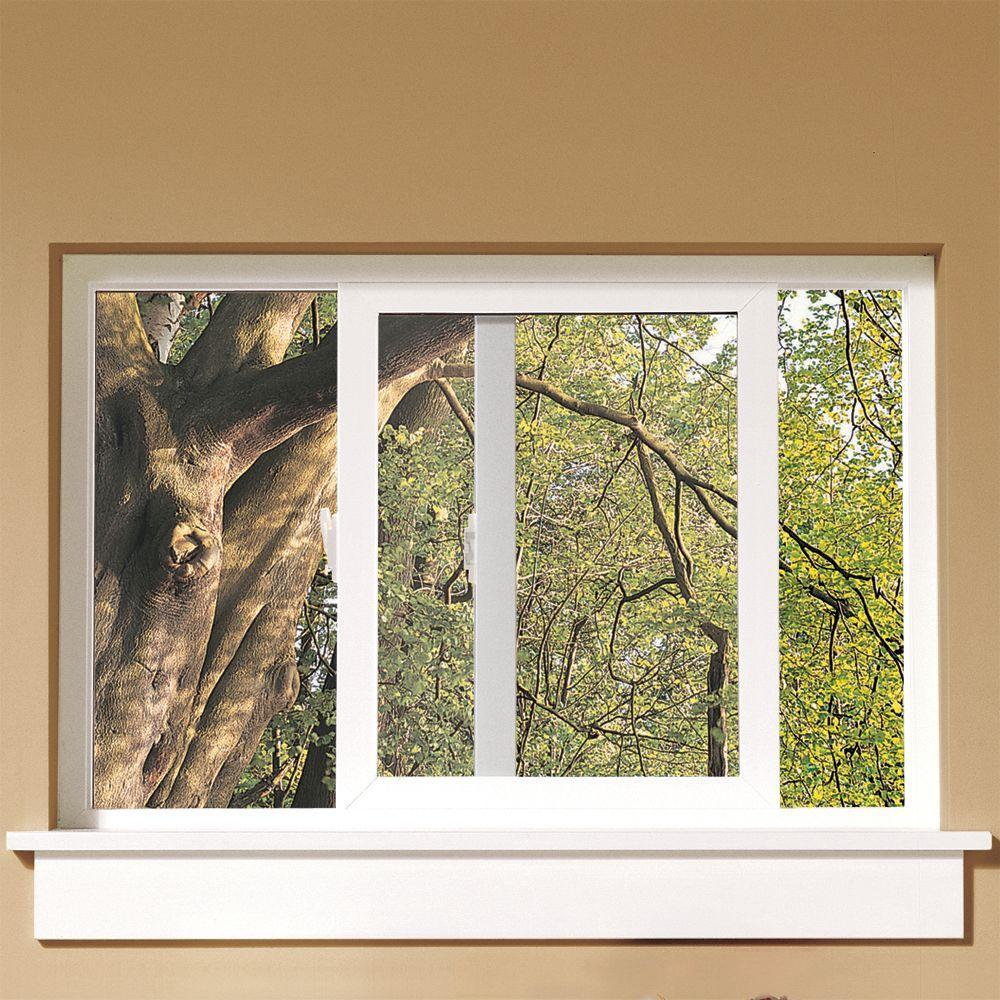 Jeld Wen 59 5 In X 47 V 1500 Series White Vinyl Left Handed Sliding Window With Fibergl Mesh Screen
