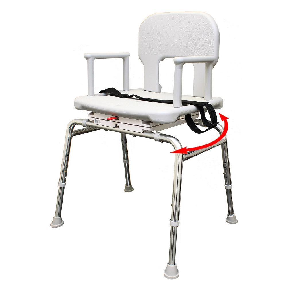 Bariatric Swivel Shower Chair 500 lb. Weight Capacity - Heavy-Duty Shower Bathtub Chair