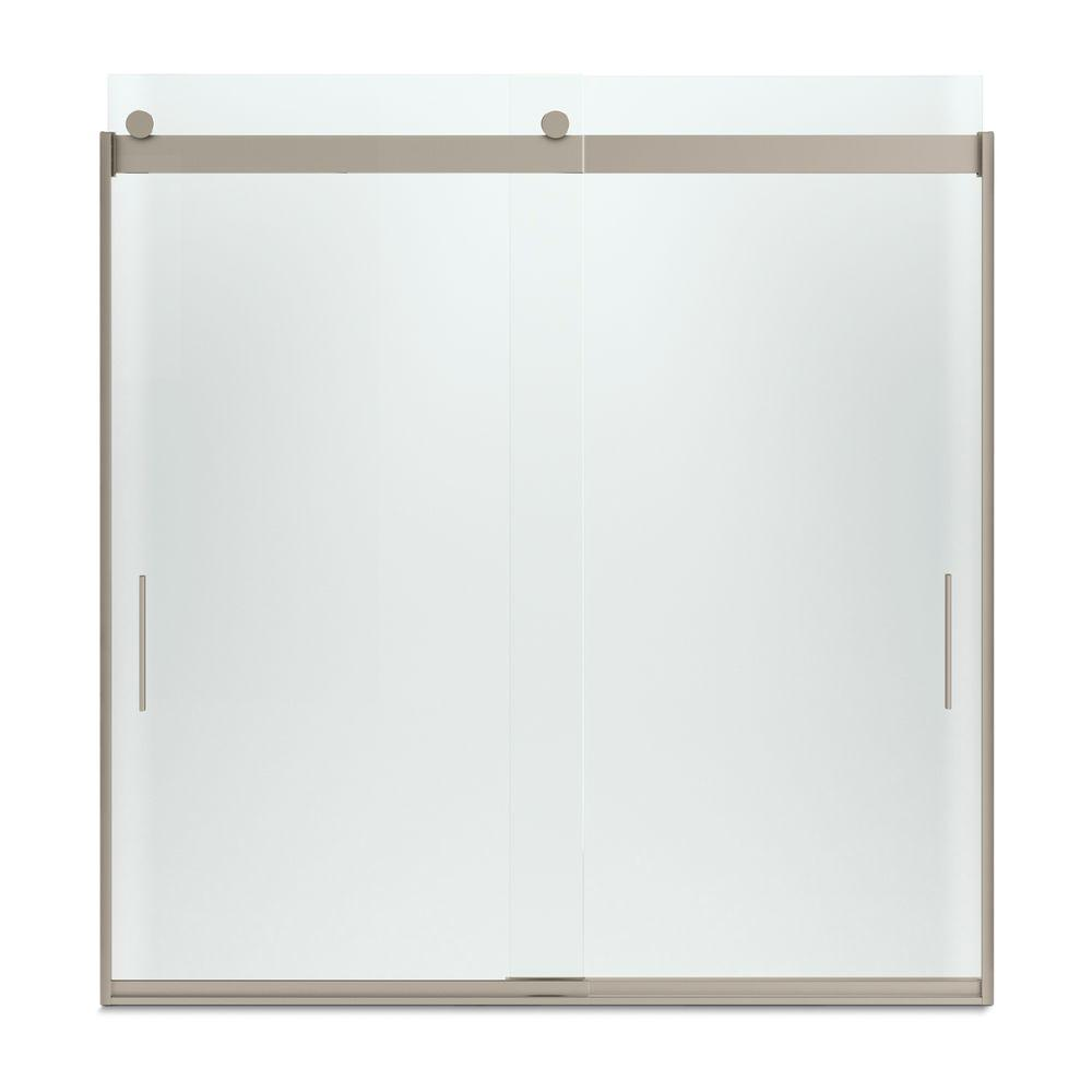 Kohler Levity 59 In X 62 In Semi Frameless Sliding Tub Door In Bronze With Handle K 706000 D3 Abv The Home Depot