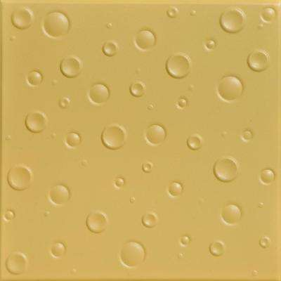 Bubbles 1.6 ft. x 1.6 ft. Foam Glue-up Ceiling Tile in Concord Ivory