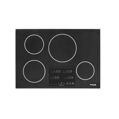 30 in.  Glass Induction Cooktop in Black with 4 Elements