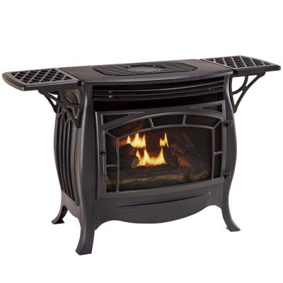 26,000 BTU Ventless Dual Fuel Gas Stove with Remote Control