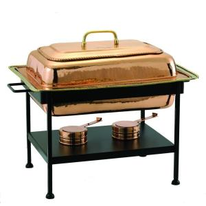 Click here to buy Old Dutch 8 qt. 23 inch x 13 inch x 19 inch Rectangular Decor Copper over Stainless Steel Chafing Dish by Old Dutch.