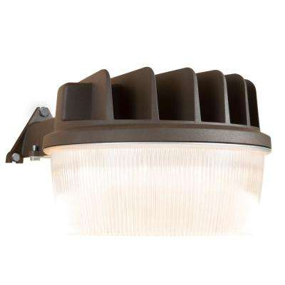 Bronze Outdoor Integrated LED Security Wall and Area Light with Built-in Dusk to Dawn Photocell Sensor, 1900 Lumens