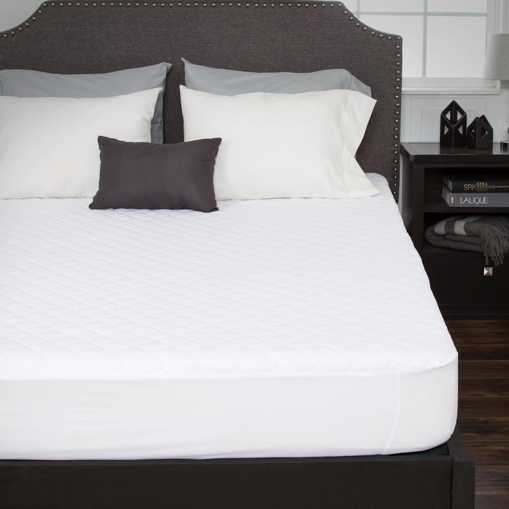 Bluestone Queen 16 In Waterproof Mattress Pad With Expandable Ed Skirt 64 22 Q The Home Depot