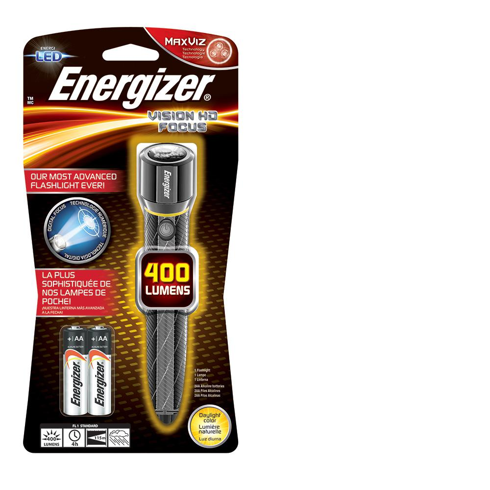 Energizer Performance Metal 400-Lumen Light, Silver