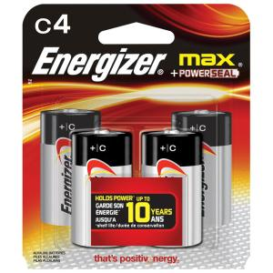 MAX Alkaline C Battery (4-Pack)