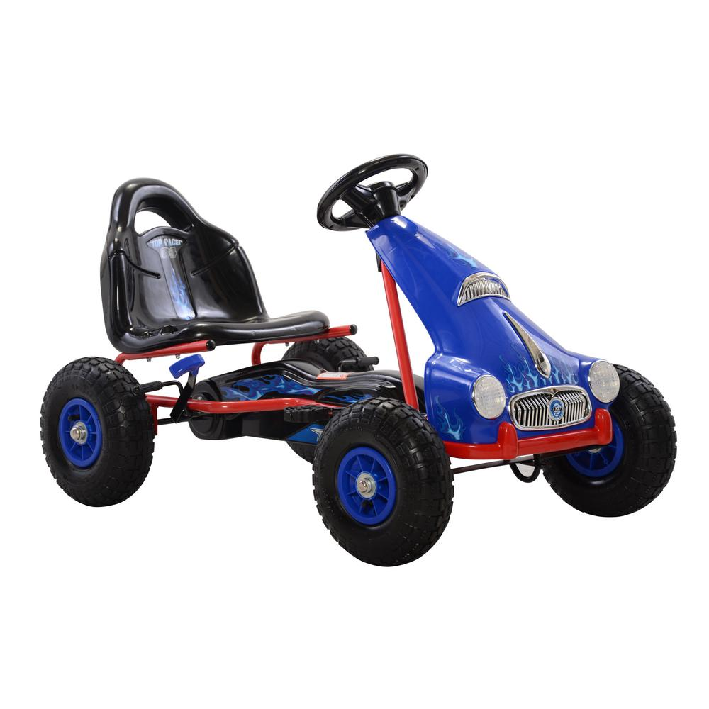 Cycle Force Top Racer Pedal Car in Blue, Blues