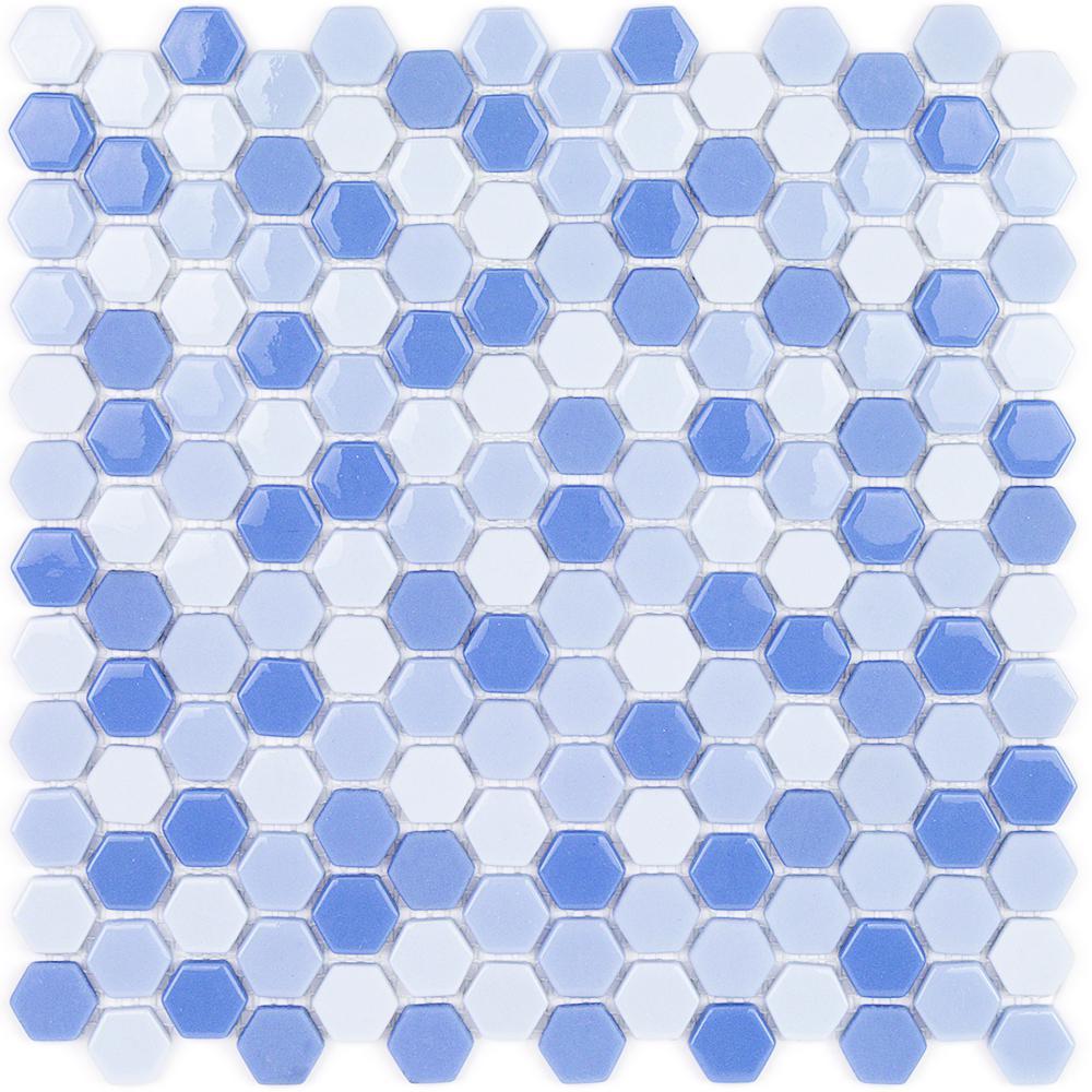 Splashback Tile Gemini Jupiter Polished Glass Mosaic Wall Tile - 3 ...
