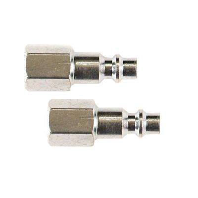 1/4 in. Industrial Steel Plug Set with 1/4 in. Female NPT (2-Piece)