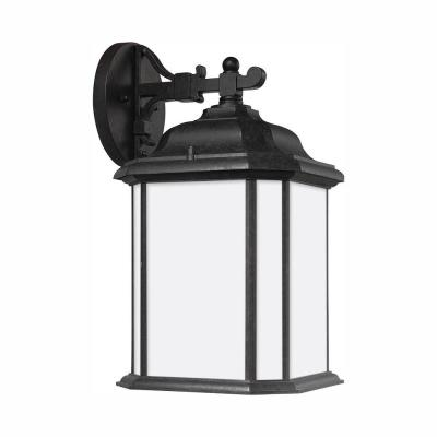 Kent 1-Light Oxford Bronze Outdoor 15 in. Wall Lantern Sconce