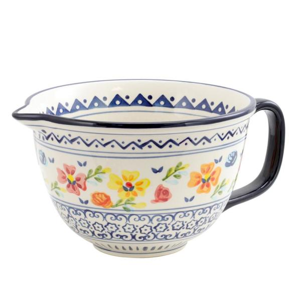 GIBSON elite Luxembourg Stoneware Hand Painted Mixing Bowl 985105493M