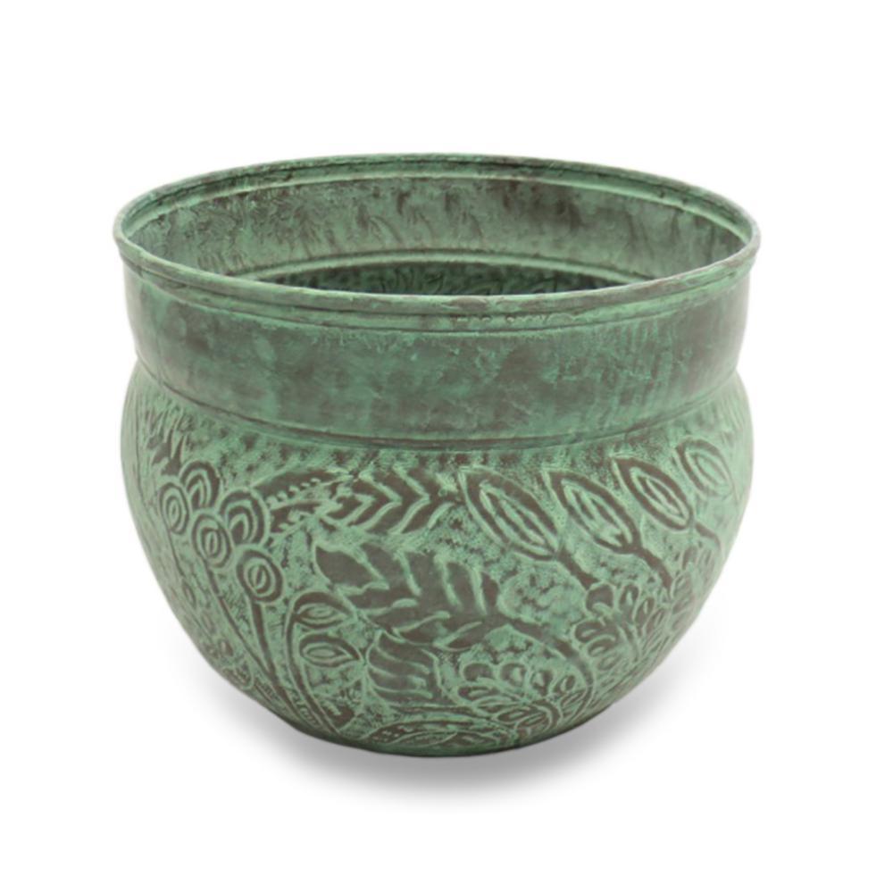 West Hose Pot in Blue Verde Brass Key