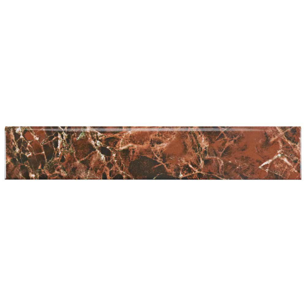 Eclipse Marron 3-1/4 in. x 17-3/4 in. Ceramic Floor and Wall