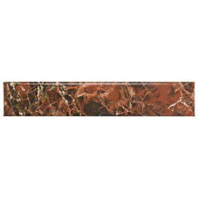 Eclipse Marron 3-1/4 in. x 17-3/4 in. Ceramic Floor and Wall Bullnose Trim Tile