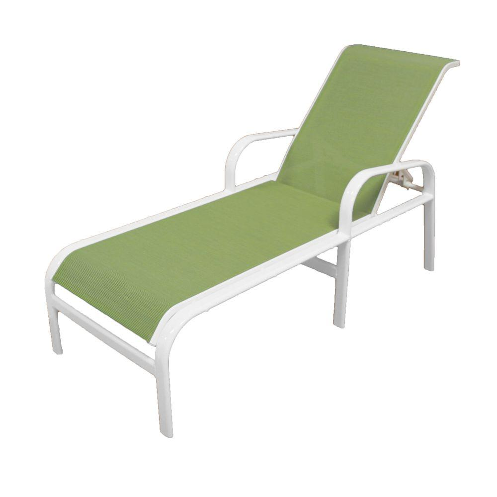 Marco Island White Commercial Grade Aluminum Sling Outdoor
