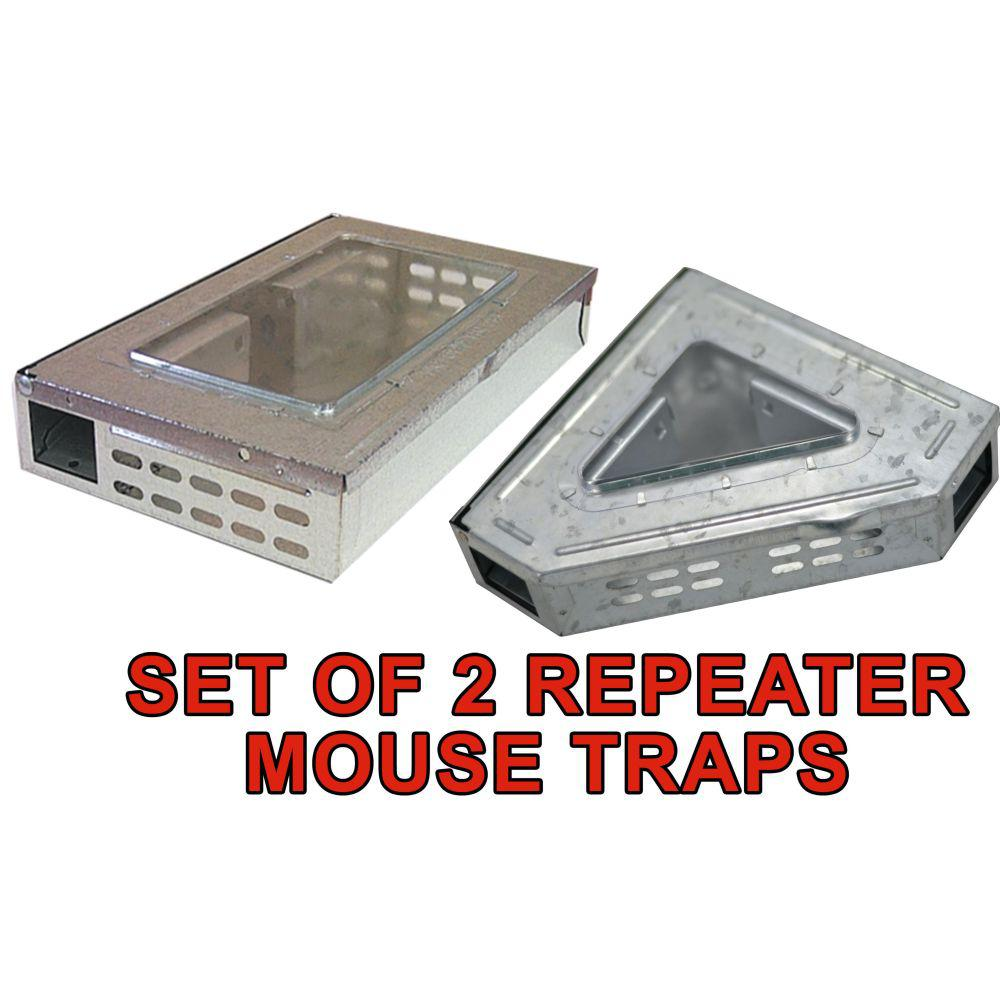 Humane Multi-Catch Clear Top Repeater Mouse Trap's