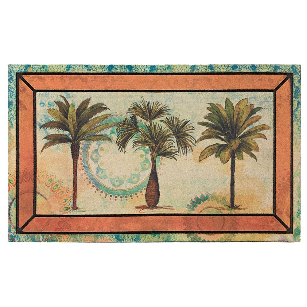 Mohawk Home Picture Frame Fresco Palm 18 In X 30 In Recycled Rubber Door Mat