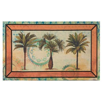Picture Frame Fresco Palm 18 in. x 30 in. Recycled Rubber Door Mat