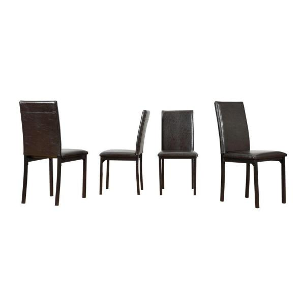 Bedford Black Faux Leather Dining Chair (Set of 4)