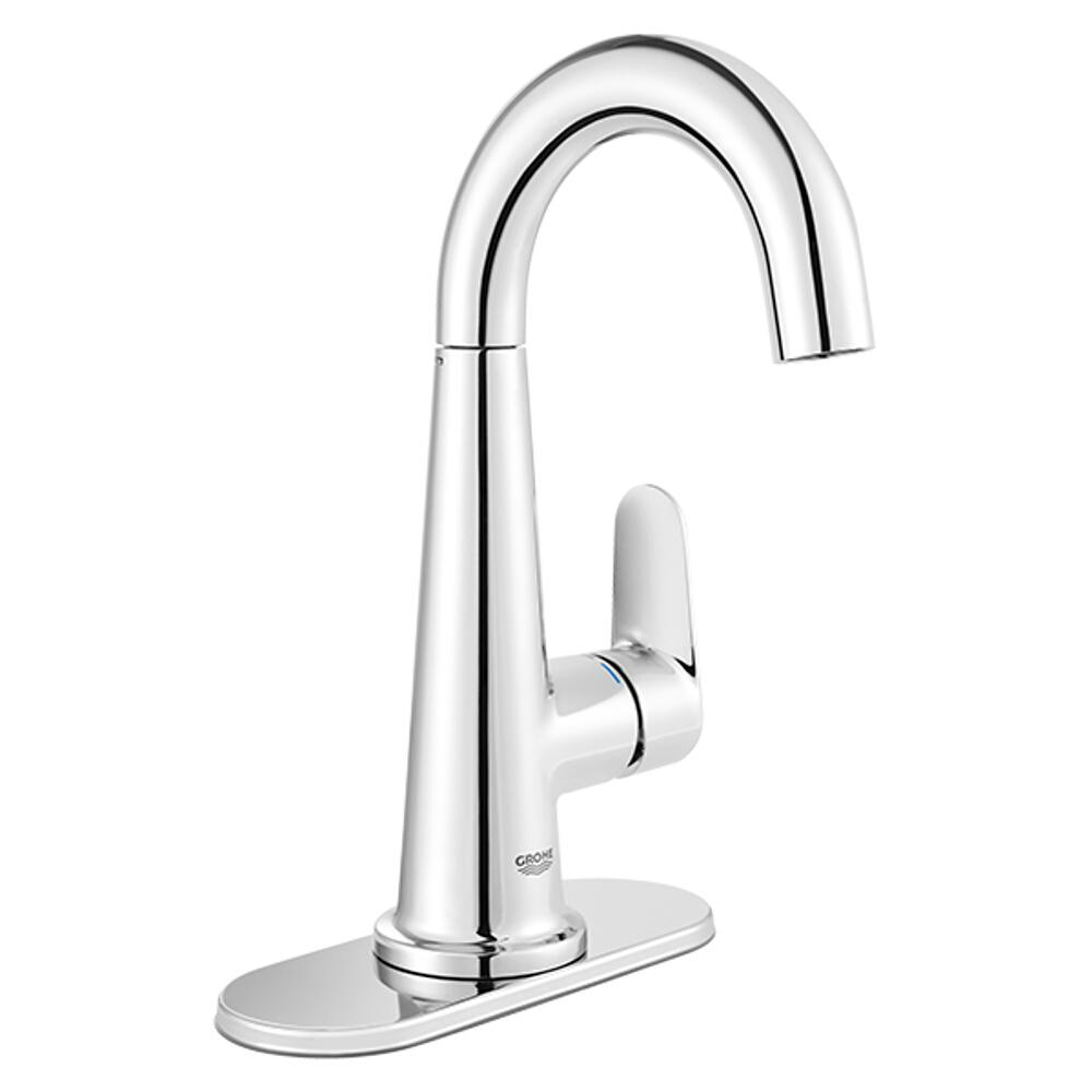Grohe Veletto 4 In Centerset Single Handle Bathroom Faucet In Starlight Chrome 23837000 The