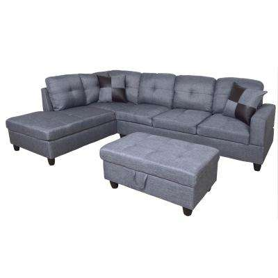 Gray Sectionals Living Room Furniture The Home Depot