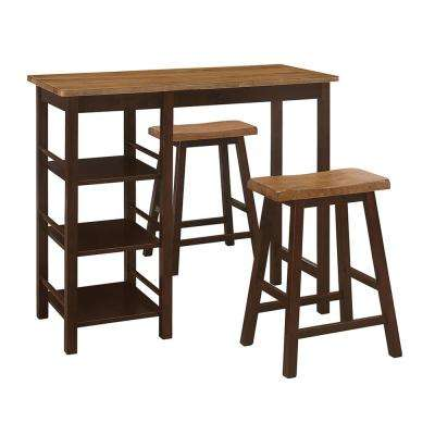 Tampa 3 Piece Brown and Oak 3 PC Dining Set