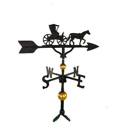 32 in. Deluxe Black Country Dr. Weathervane