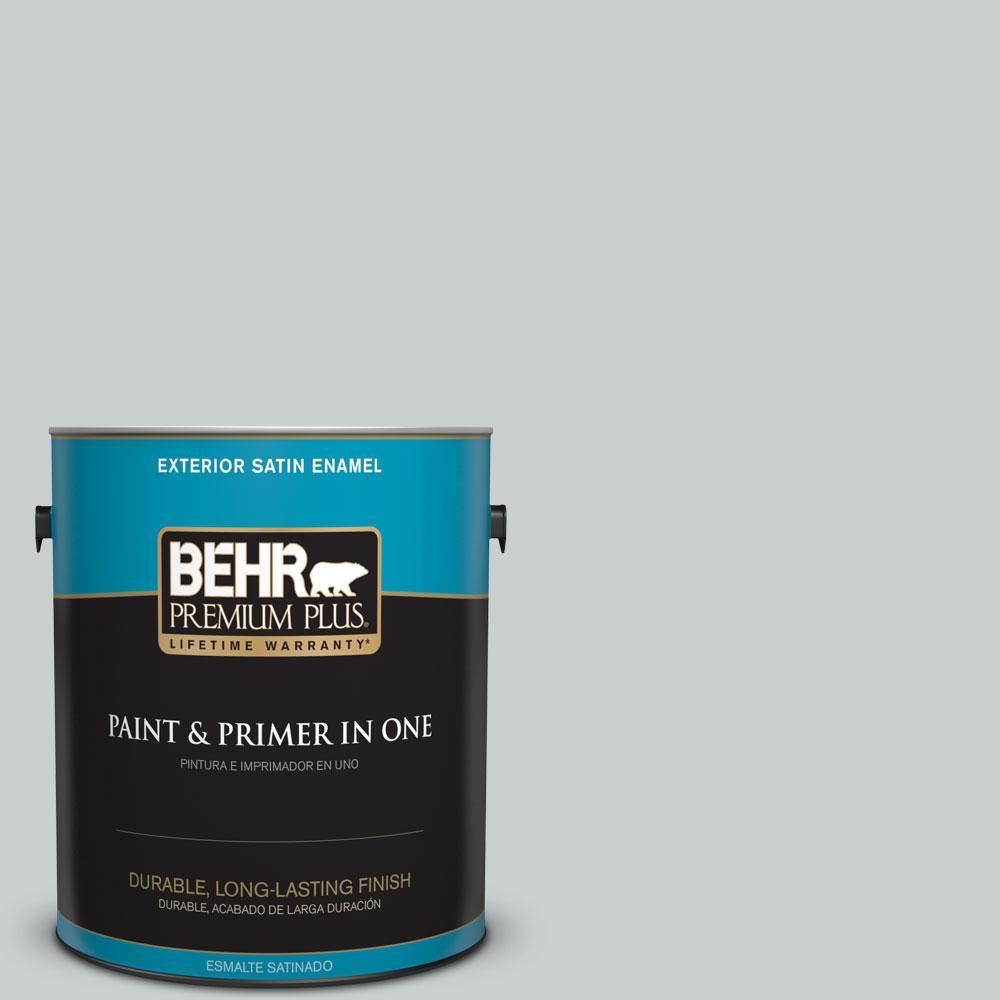 BEHR Premium Plus 1-gal. #PPF-17 Foggy Morn Satin Enamel Exterior Paint