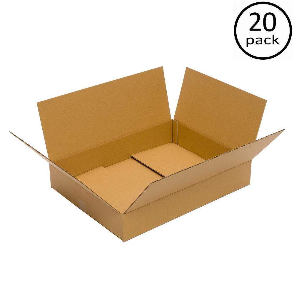 Plain Brown Box 24 in. x 18 in. x 4 in. 20-Box Bundle
