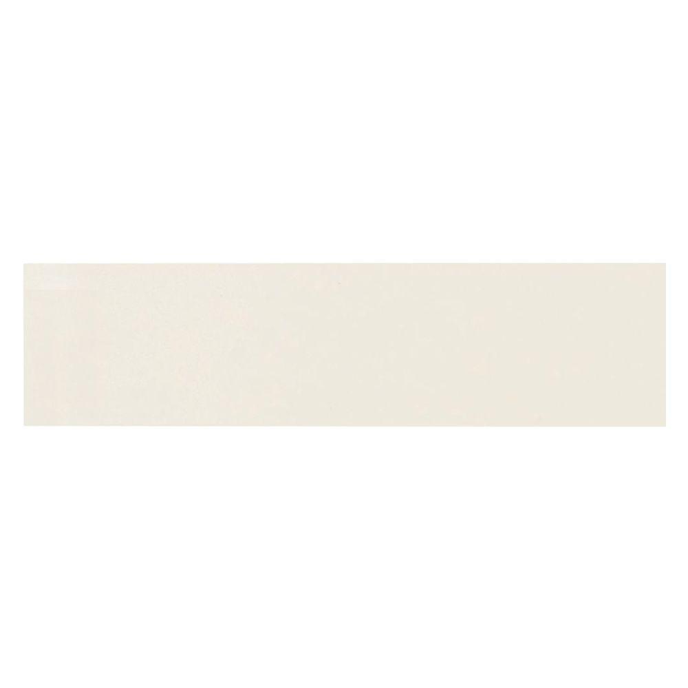 Daltile Lillis Gloss Ivory 4 in. x 16 in. Glazed Ceramic Bullnose Wall Tile
